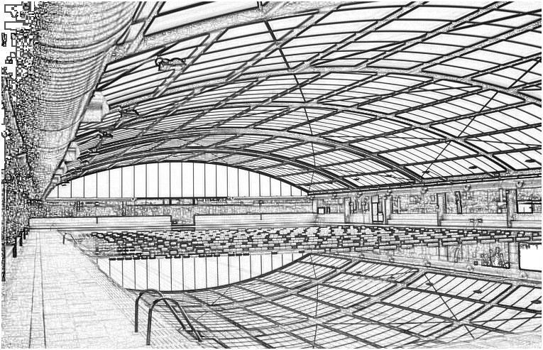 Εικόνα 2 Σκαρίφημα εσωτερικής όψης της κατασκευής με την οροφή κλειστή