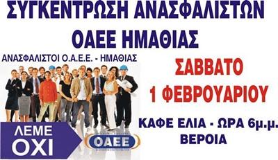 ΟΑΕΕ-ΣΥΓΚΕΝΤΡΩΣΗ ΣΑΒΒΑΤΟ 01-02-2014