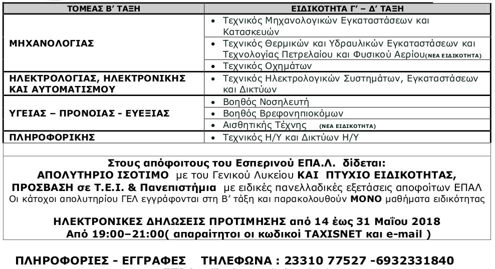 ΕΠΑΛ ΒΕΡΟΙΑΣ 2018-2019