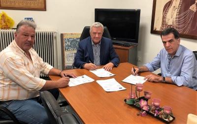 υπογραφή αποχετευτικού δικτύου Μελίκης 25-7-2018