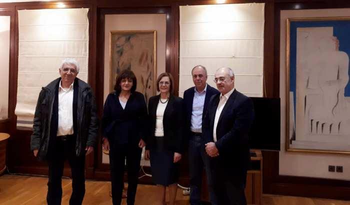 Συνάντηση με την υπουργό Πολιτισμού είχαν οι βουλευτές Ημαθίας Χ. Αντωνίου και Φ. Καρασαρλίδου