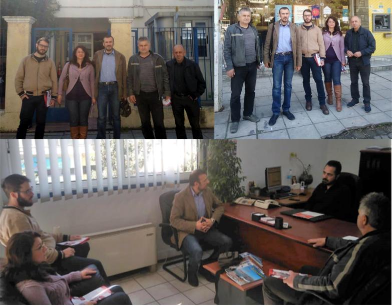 Την Αστυνομία, τα ΕΛΤΑ και υπηρεσίες του Δήμου Αλεξάνδρειας επισκέφθηκε κλιμάκιο της Λαϊκής Συσπείρωσης Αλεξάνδρειας