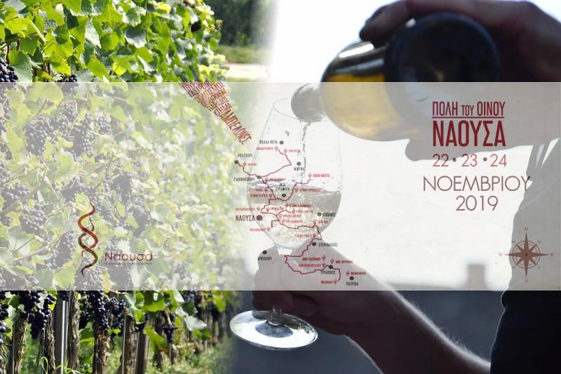 """""""Νάουσα, Πόλη του Οίνου 2019"""", από 22 έως 24 Νοεμβρίου"""