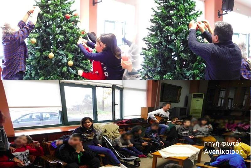 Στο ΚΑΠΗ για το χριστουγεννιάτικο δένδρο τα παιδιά του Ειδικού Σχολείου Αλεξάνδρειας