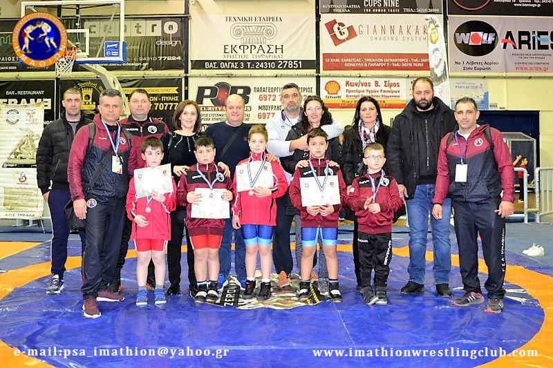 Πέντε μετάλλια για τον Ημαθίωνα στο 12ο Πανελλήνιο παιδικό τουρνουά πάλης