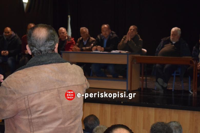 αποχέτευση Πλατύ συνέλευση - ενημέρωση κατοίκων