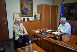 Με τον πρόεδρο του ΕΛΓΑ Α. Λυκουρέντζο συναντήθηκε ο δήμαρχος Αλεξάνδρειας Π. Γκυρίνης