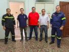 Την Πυροσβεστική Υπηρεσία επισκέφθηκε ο δήμαρχος Νάουσας Ν. Καρανικόλας