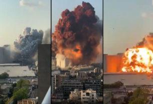 Τεράστια έκρηξη στη Βηρυτό σκορπίζει το θάνατο και την καταστροφή (βίντεο)