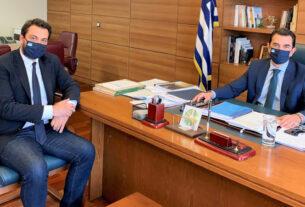 Με τον υφυπουργό Αγροτικής Ανάπτυξης συναντήθηκε ο βουλευτής Ημαθίας Τ. Μπαρτζώκας
