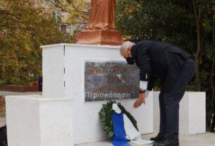 Αλεξάνδρεια: στεφάνι για την επέτειο του Πολυτεχνείου κατέθεσε ο δήμαρχος Π. Γκυρίνης