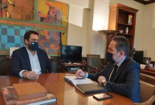 Με τον αναπληρωτή υπουργό Εσωτερικών για αναπτυξιακά έργα της Ημαθίας συναντήθηκε ο Τ. Μπαρτζώκας