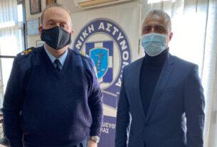 Συνάντηση Τσαβδαρίδη με τον νέο αστυνομικό διευθυντή Ημαθίας
