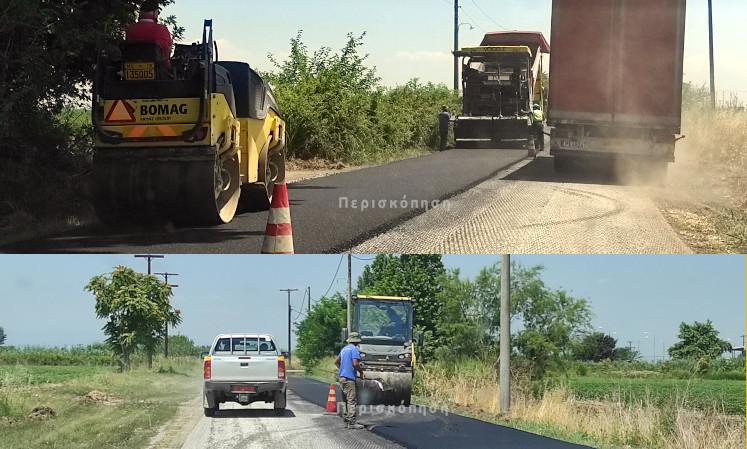 Εργασίες οδοποιίας από την Π.Ε. Ημαθίας σε σημεία του Δήμου Αλεξάνδρειας